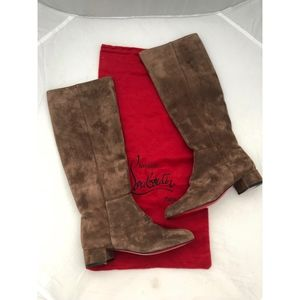 Christian Louboutin Shoes - New Christian Louboutin Liliboots Brown Suede 38.5